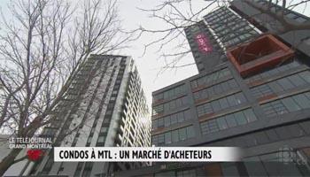 Condos : toujours un marché d'acheteurs à Montréal